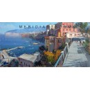 Vincenzo Aprile - View of Sorrento - Coastal oil painting
