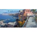 Vincenzo Aprile - View of Sorrento - Coastal oil painting