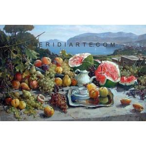 Still Life oil painting - landscape of Sorrento