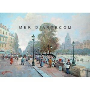 The Seine - Paris oil painting