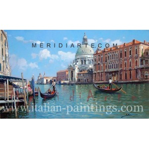 Venice oil painting - Grand Canal in Venice