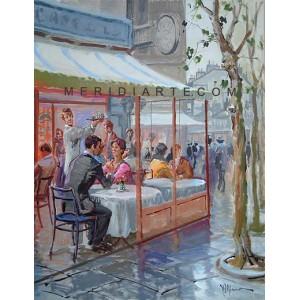 Bistrot - Figure oil paintings